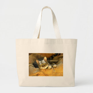 """""""Le estoy mirando"""" - un gatito muy lindo Bolsas"""