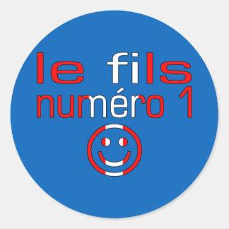 Le fils Numéro 1 - Number 1 Son Canadian Classic Round Sticker