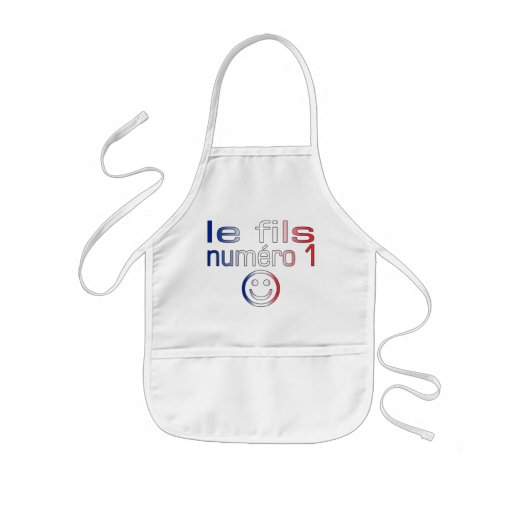 Le fils Numéro 1 - Number 1 Son in French Kids' Apron