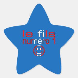 Le fils Numéro 1 - numere a 1 canadiense del hijo Pegatina En Forma De Estrella