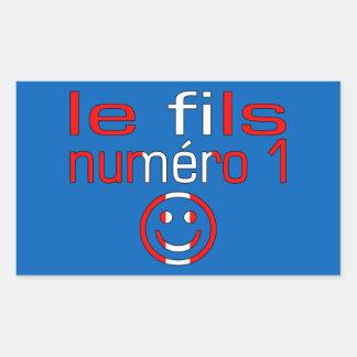 Le fils Numéro 1 - numere a 1 canadiense del hijo Pegatina Rectangular