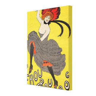 Le Frou Frou 20', Journal Humoristique Canvas Print