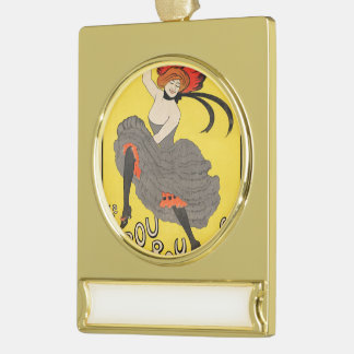 Le Frou Frou 20', Journal Humoristique Gold Plated Banner Ornament