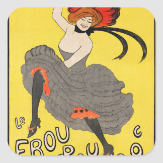 Le Frou Frou 20', Journal Humoristique Square Sticker