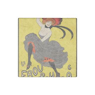 Le Frou Frou 20', Journal Humoristique Stone Magnet