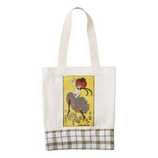 Le Frou Frou 20', Journal Humoristique Zazzle HEART Tote Bag