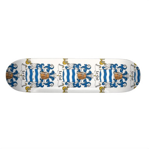 Le Gal Family Crest Skate Board