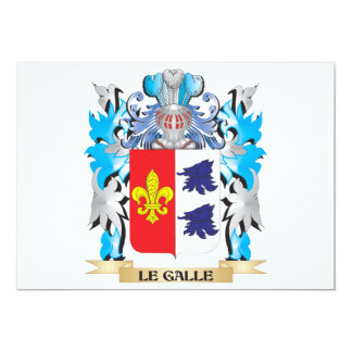 Le-Galle Coat of Arms - Family Crest 5x7 Paper Invitation Card