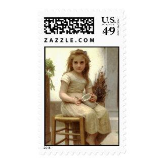 Le Goûter (Just a Taste) William Bouguereau Postage Stamps