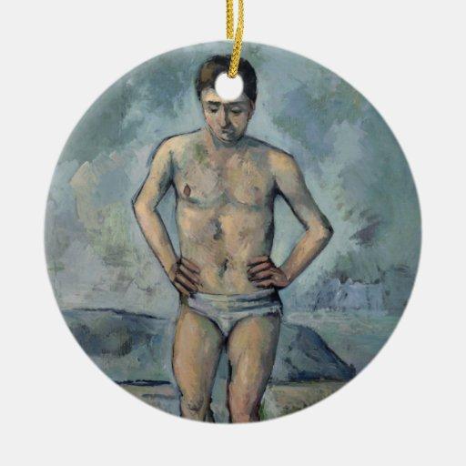 Le Grand Baigneur, Paul Cézanne Double-Sided Ceramic Round Christmas Ornament