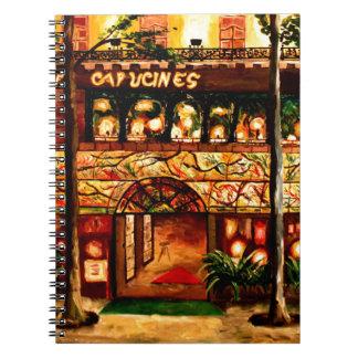 Le Grand Cafe Capucines en París Francia Notebook