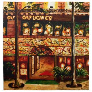 Le Grand Cafe Capucines en París Francia Servilletas Imprimidas