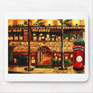 Le Grand Cafe Capucines In Paris France Mouse Pad