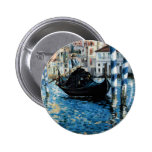 Le Grand Canal à Venise - Edouard Manet Pinback Buttons