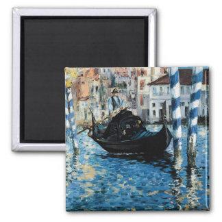Le Grand Canal à Venise - Edouard Manet 2 Inch Square Magnet