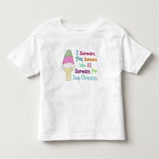 Le grito camiseta de Twofer del niño del helado Remera
