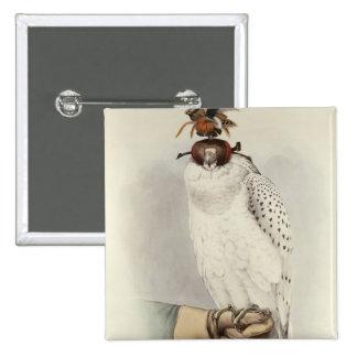 Le Groenlandais, Faucon Blanc Mue, from 'Traite de Pinback Button