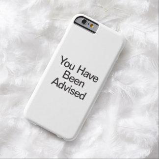 le han aconsejado funda de iPhone 6 slim