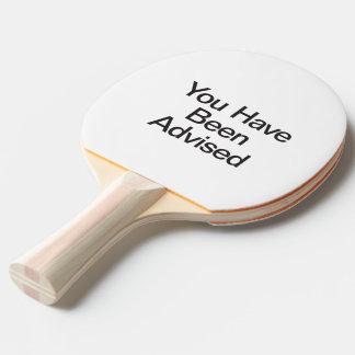 le han aconsejado pala de tenis de mesa