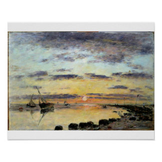 Le Havre, 1889 (oil on canvas) Poster