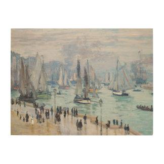 Le Havre, Bâteaux de Peche Sortant du Port | Monet Wood Wall Art