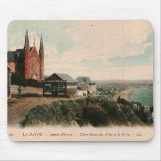 LE HAVRE - Sainte Adresse postcard design Mouse Pad