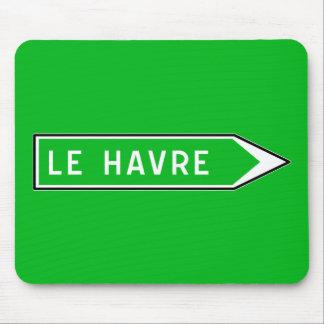 Le Havre, señal de tráfico, Francia Alfombrilla De Ratón