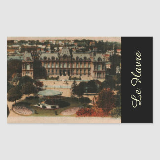Le Havre -  Town Hall and gardens Rectangular Sticker