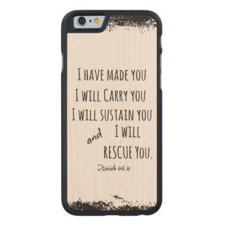 Le he hecho; Le llevaré verso de la biblia Funda De iPhone 6 Carved® De Arce