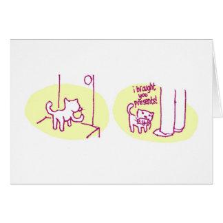 Le he traído presento… tarjeta de felicitación