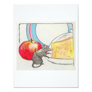 """Le he visto, pequeño ratón invitación 4.25"""" x 5.5"""""""