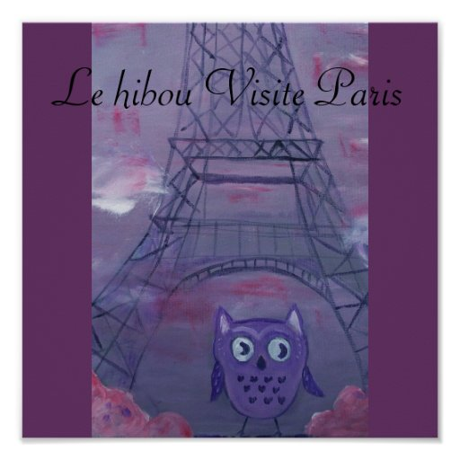 Le hibou Visite París Impresiones