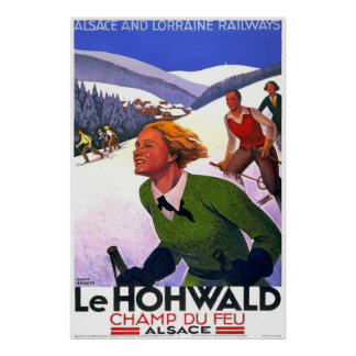 """Le Hohwald"" Vintage French Travel Poster"