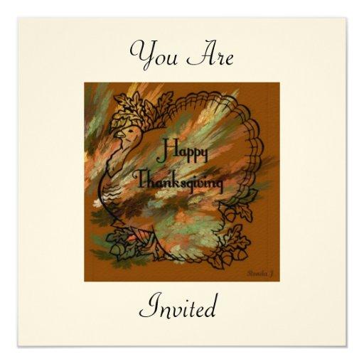 Le invitan a la invitación de la acción de gracias