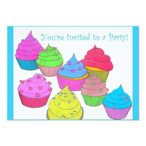 Le invitan a las magdalenas del fiesta de un ~ de invitación