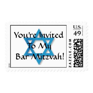 ¡Le invitan a mi barra Mitzvah! Franqueo
