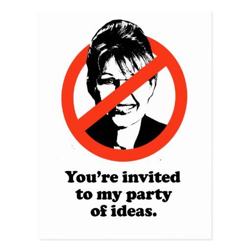 Le invitan a mi fiesta de ideas tarjeta postal