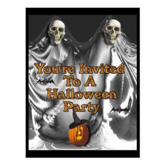 Le invitan a un fiesta de Halloween Tarjetas Postales