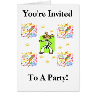 ¡Le invitan a un fiesta! Tarjeta De Felicitación