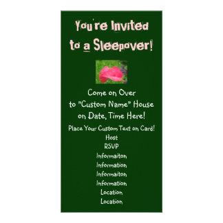 ¡Le invitan a un Sleepover! Fiesta de las invitaci Tarjetas Fotograficas Personalizadas