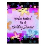 Le invitan a una ducha del boda postal