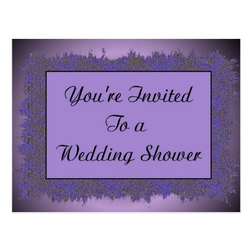 Le invitan a una ducha del boda tarjeta postal