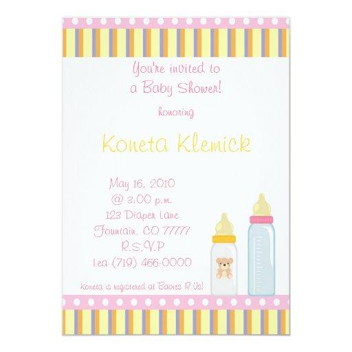 ¡Le invitan a una fiesta de bienvenida al bebé! … Invitación Personalizada