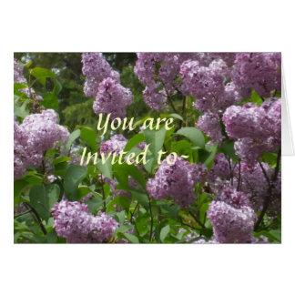 Le invitan a una invitación de la fiesta de jardín tarjeta pequeña