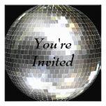 Le invitan - bola de discoteca invitación personalizada