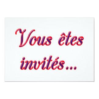 """Le invitan invitación 5"""" x 7"""""""