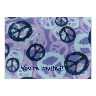 """¡Le invitan! - Los signos de la paz invitan Invitación 5"""" X 7"""""""