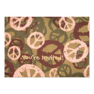 """¡Le invitan! - Los signos de la paz/la mirada de Invitación 5"""" X 7"""""""