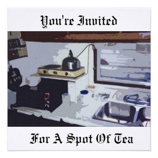 Le invitan para un punto del té