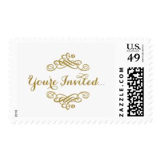 Le invitan… timbre postal